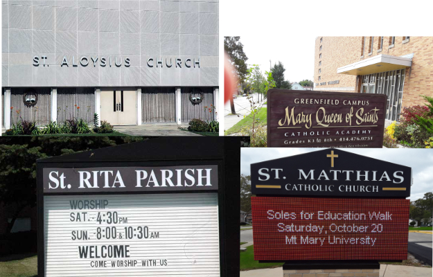 St. Aloysius,St. Rita, MQS, St. Matthias