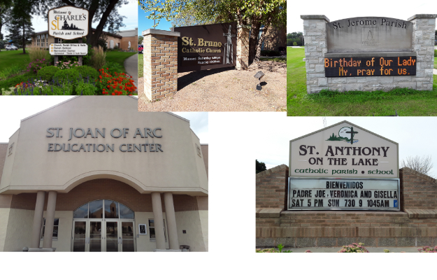 St. Charles, St. Bruno, St. Jerome, St. Joan of Arc, St. Anthony