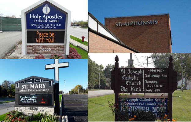 Holy Apostles, St.Alphonus, St. Mary HC, St. Joe BB