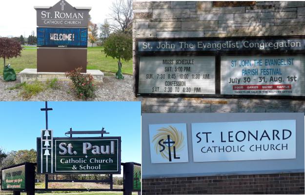 St.Roman, St. Paul, St. Leonard, St. John the Evangelist